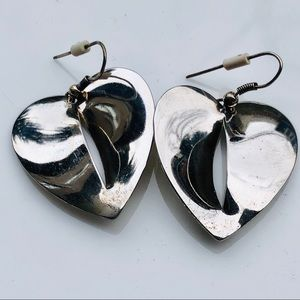 Silver Plated Heart Shaped Earrings
